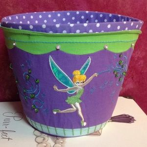 Disney girls room basket, decor Thinker Bell